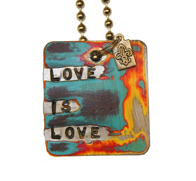Love is Love Metal ID Tag / Necklace