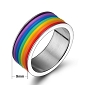 Rainbow Rubber Bands Pride Ring