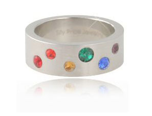 Rainbow Gems Ring (Size 12 only)