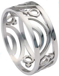Carved Male Stainless Ring