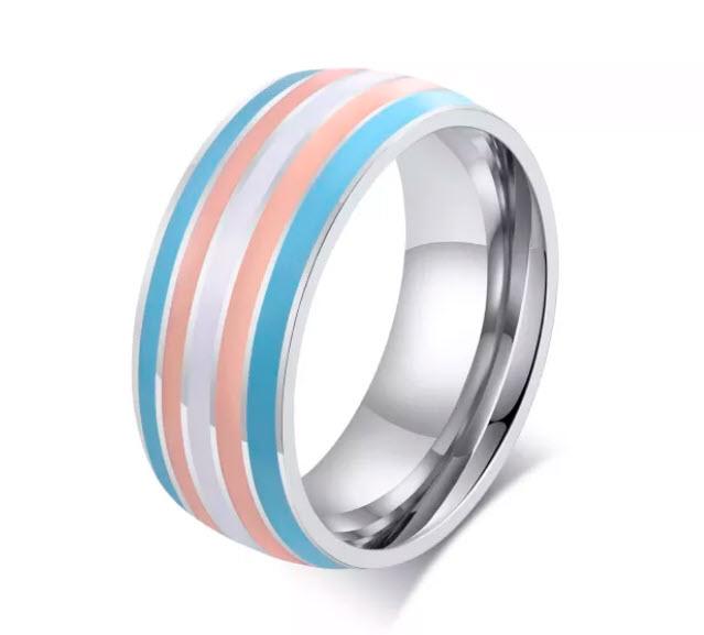 Rainbow Stones Gold Ring