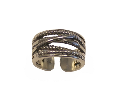 Twisted Chains / Ropes Cuff Ring  (Size 13 Only)
