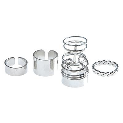 Polished Caged (5) Rings Set