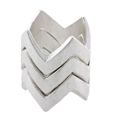 (3) Stacked Puzzle Rings