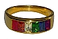 Rainbow Channel Gold Ring