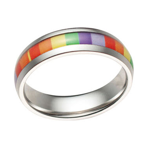 Rainbow Band Stainless Ring
