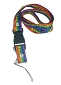 Rainbow Stripe with Peace Sign Bolt Snap Lanyard