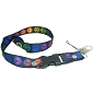Rainbow Peace Signs Bolt Snap Lanyard