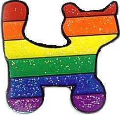 Rainbow Sparkle Cat Lapel Pin