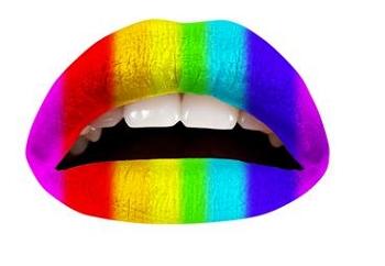 Rainbow Lip Appliques