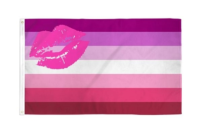 Lipstick Lesbian Flag 3ft x 5ft Printed Polyester