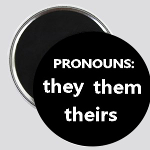 PRONOUNS: they them theirs Magnet