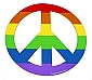 Rainbow Peace Sign Flexible Magnet