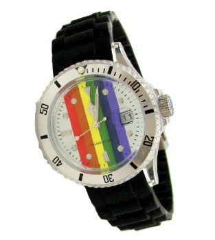 Rainbow Pride Watch with Silicone Band