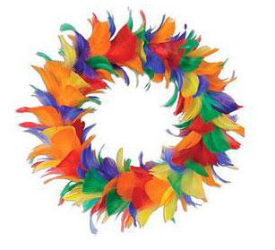 Rainbow Feather Wreath (12 inch)
