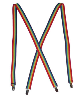 Rainbow Pride Suspenders