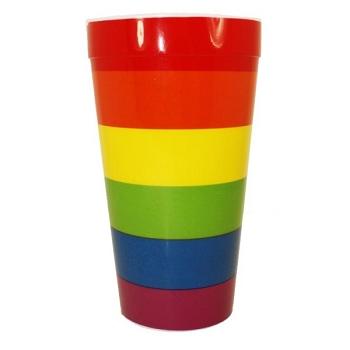 Rainbow Plastic Cup