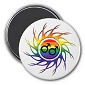 Eye of the Storm Rainbow Male Magnet