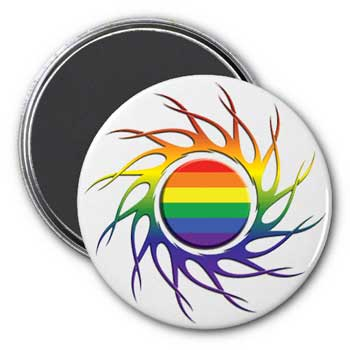 Eye of the Storm Rainbow Magnet