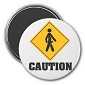 Caution Erection Magnet