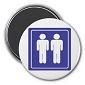 Male Bathroom Magnet