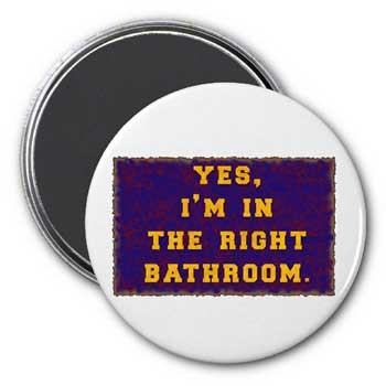 Right Bathroom Magnet
