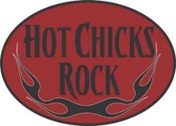 Hot Chicks Rock Key Chain