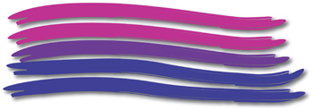 Bi Pride Paintbrush Mouse Pad