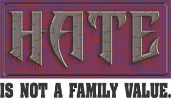 Hate Is Not A Family Value Key Chain
