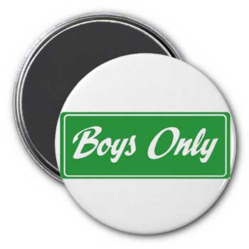 Boys Only Magnet