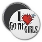 I Love Goth Girls Magnet