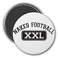 Naked Football Magnet