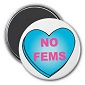 No Fems (heart) Magnet