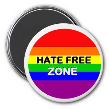 Hate Free Zone Magnet