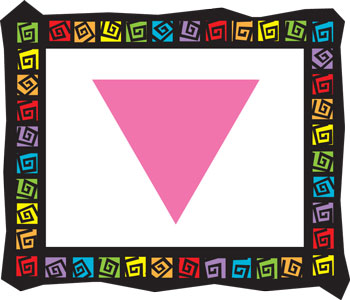 Pink Triangle Frame Mouse Pad