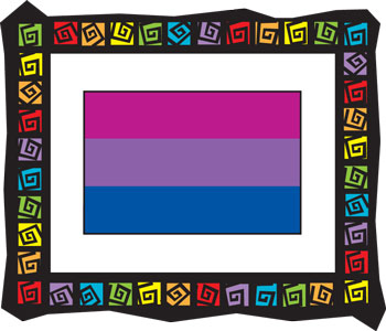 Bi Flag Frame Key Chain
