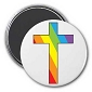 Rainbow Cross Magnet