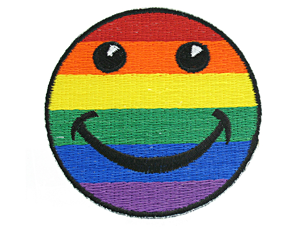 Rainbow Smilie Face Patch
