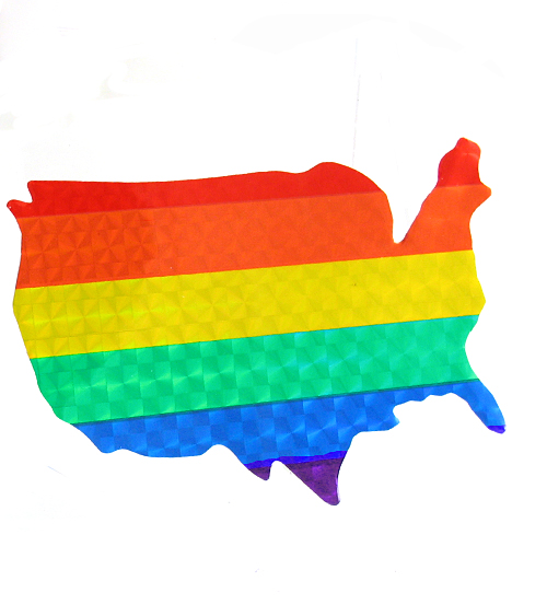 Rainbow USA Reflective Sticker