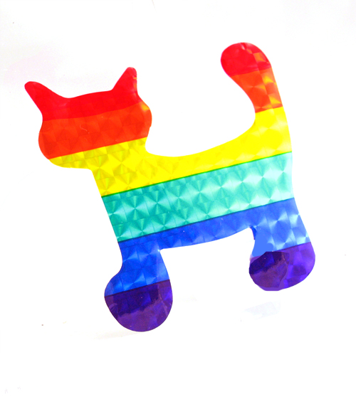 Rainbow Cat Reflective Sticker