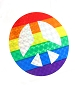 Rainbow Peace Reflective Sticker