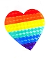 Rainbow Heart Reflective Sticker