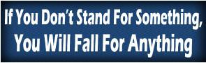 If you dont stand for something ... Bumper Sticker