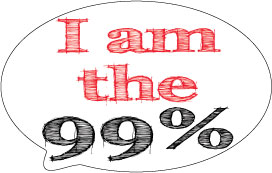 I am the 99% Sticker