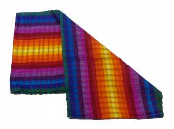 Woven Rainbow Cotton Scarf