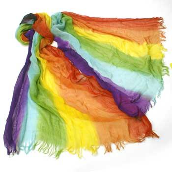 Woven Rainbow Scarf