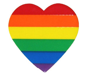 Rainbow Heart Cling Sticker