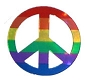 Peace Sign Sticker  - 1.50 inch