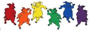 Dancing Pigs Sticker