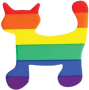 Rainbow Cat Cling Sticker